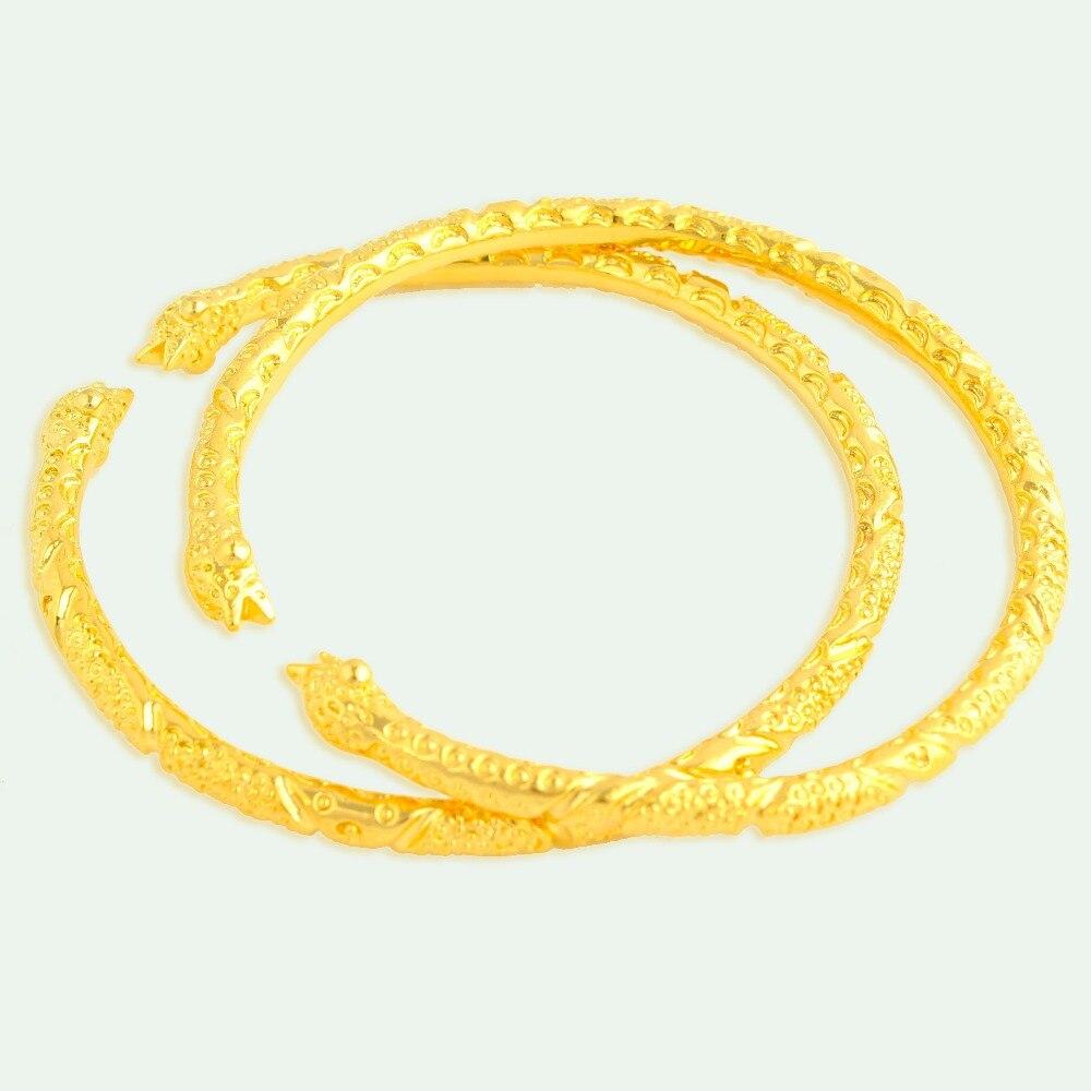 8638c002b 2018 المرأة الأفريقية الذهب الأزياء الإسورة قابل للتعديل حجم الإسورة الذهب  اللون مجوهرات هدايا
