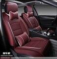 Para hyundai ix35 tucson 2016 solaris acento negro suave impermeable de la pu asiento de coche de cuero cubre marca front & rear cubierta de asiento completo