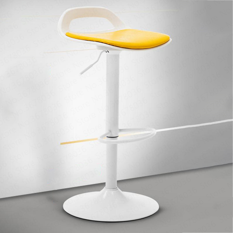 Swivel Chair Bar Back Barber Shop Adjustment Simple Work Lift Rotating European Fashion Beauty High Foot Modern Minimalist(China)