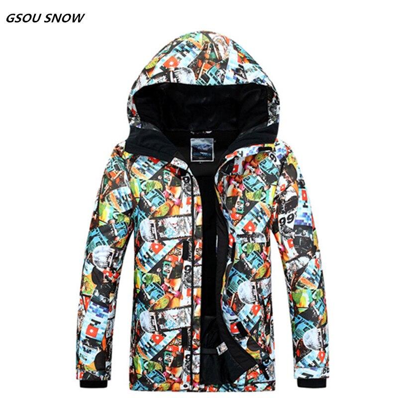 Gsou snow10K veste de Ski super chaud coupe-vent imperméable épaissir thermique mâle ski Ski sport snowboard vêtements manteaux