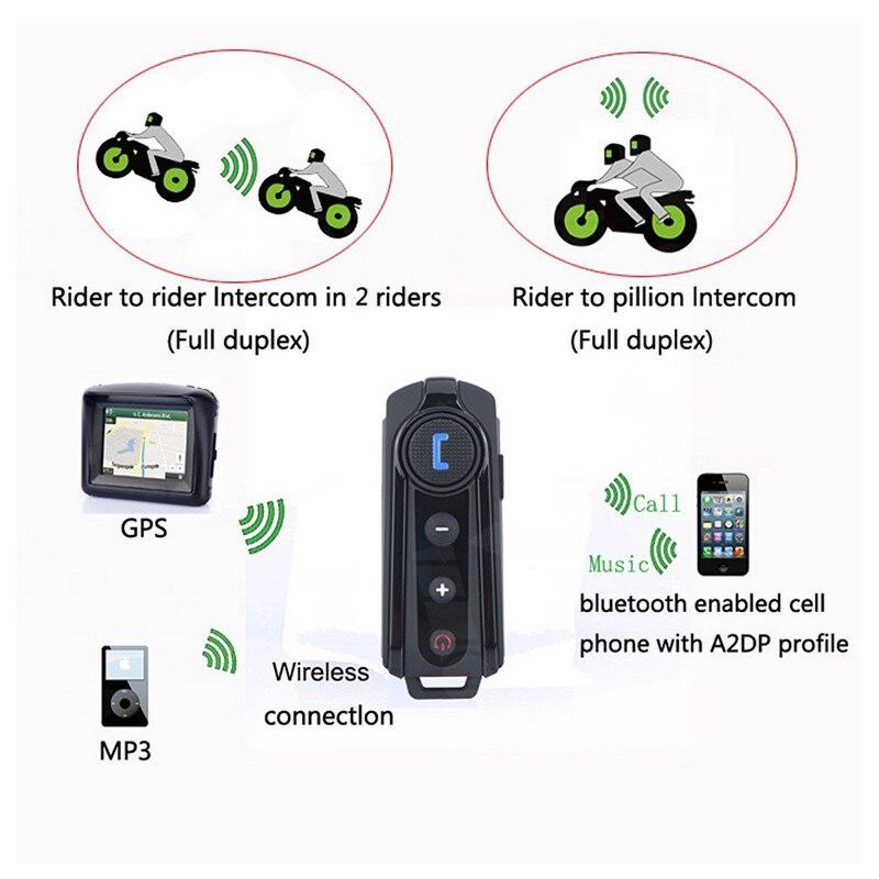 Fodsports BT-S1 Intercom Helm Headsets Bluetooth Sprech Motorrad Intercomunicador Stereo Musik Mit FM Radio