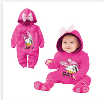 2014 autumn/winter cotton wool garment cute baby clothing Baby climb clothes jumpsuit rompers 13-30 month new 2014 autumn winter baby