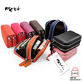 Moxi Genuine Leather Card Holder Women / Men Change Wallet Business Credit Card Holder Leisure Double Zipper Card Case Purse