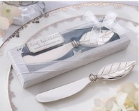 40pcs Wedding favors gifts Zinc alloy silver Butter knife Leaf Spreader baby shower souvenir+ DHL Free Shipping