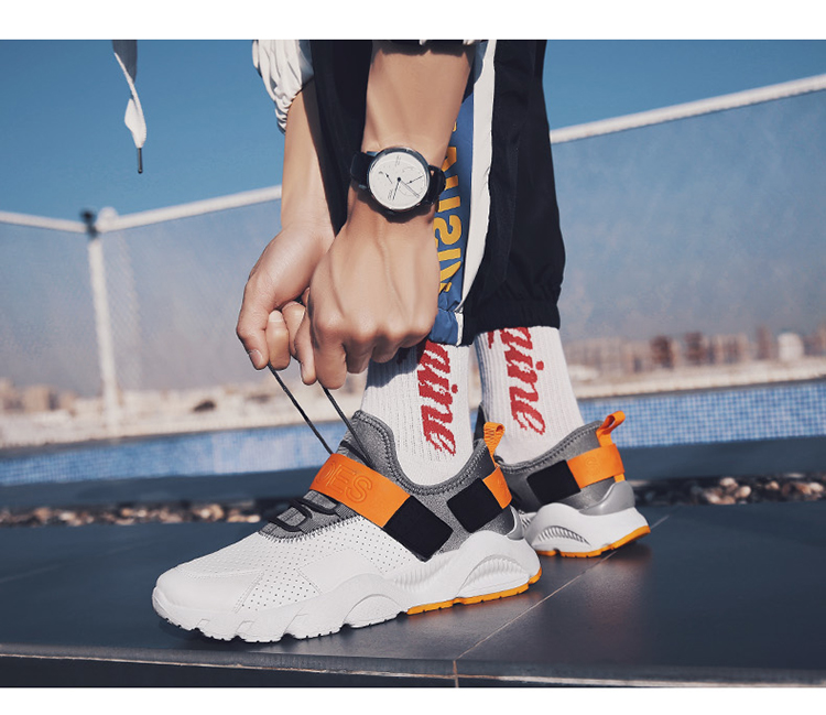 Male Shoes Adult Ons Men Human Race First Layer Winter Sneakers for Men Fashion 2019 Mens Canvas Shoes Sneakers Platform 44