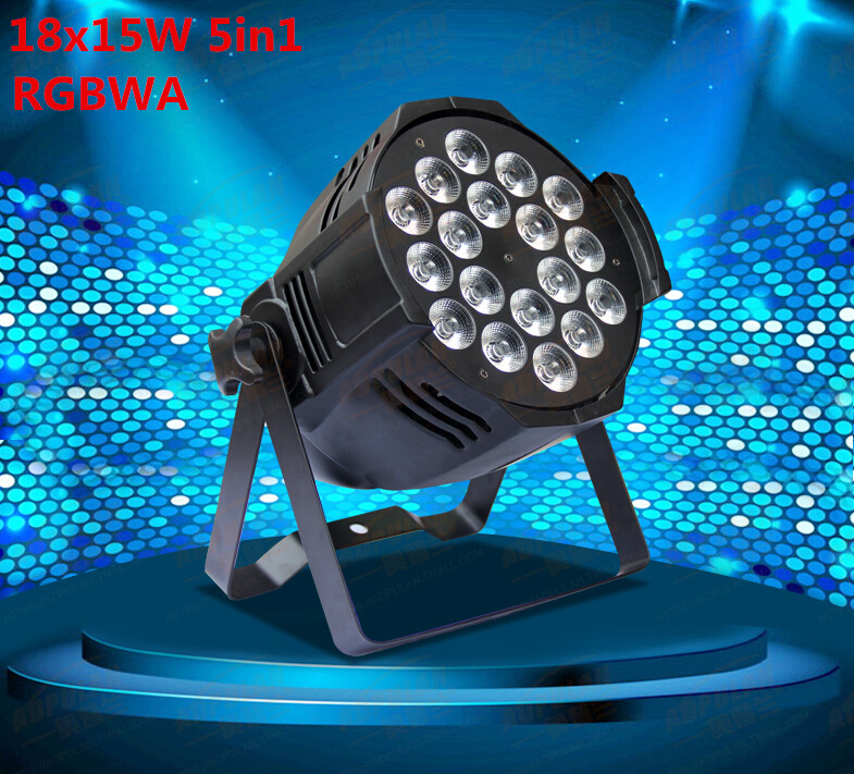 18x15W Led Par Light RGBWA 5in1 DMX Professional Lighting Indoor Stage Lights DJ Equipment Par Led niugul dmx stage light mini 10w led spot moving head light led patterns lamp dj disco lighting 10w led gobo lights chandelier