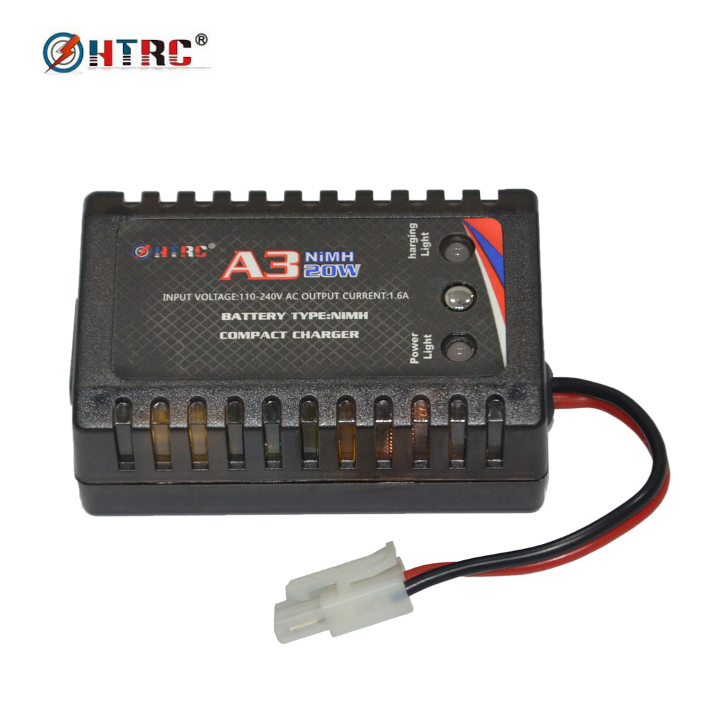 HTRC A3 20W Compact Charger with Tamiya Plug for RC Car Boat 5-8s NiMH Battery 100w folding solar panel solar battery charger for car boat caravan golf cart