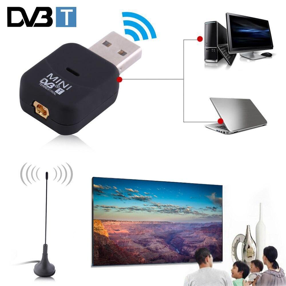Mini USB 2,0 цифровой DVB-T SDR + DAB + FM HD ТВ-тюнер ТВ-палка антенна ключ палка видео вещание запись Antena приемник DVBT