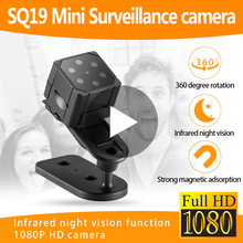 SQ19 SQ 19 Piccolo Segreto Micro Video Mini Camma Della Macchina Fotografica Con Sensore di Movimento di HD 1080p di Visione Notturna Videocamera Piccolo microcamera Registratore
