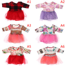 1PC 43cm Baby Doll Suit Skirt 18 inch Doll Clothes Best Birthday Gift For Girl Children High Quality(China)