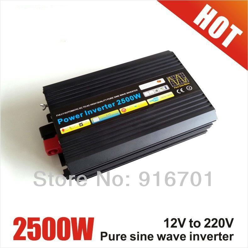 цена на Fedex freeshipping! 2500W /2.5kw Off Grid Pure Sine Wave Power Inverter, 5000w/5kw Peak power inverter, Solar Wind Inverter