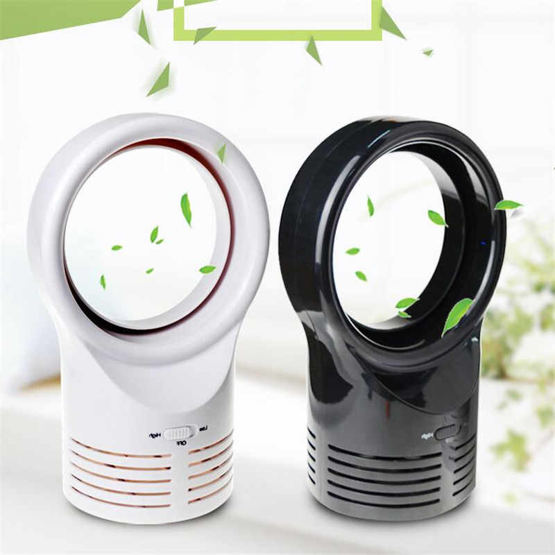 Mini Portable Desktop Bladeless Fan Cute No Fan-Leaf Cooler Cooling Fan for Office Study