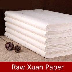 100 листов/упаковка Xuan бумага Китайская традиционная каллиграфия кисть рисовая бумага пейзаж Цветок Птица живопись сырье Xuan бумага