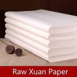 100 hojas/paquete Xuan papel chino caligrafía tradicional pincel escritura arroz papel paisaje flor pájaro pintura Raw Xuan papel