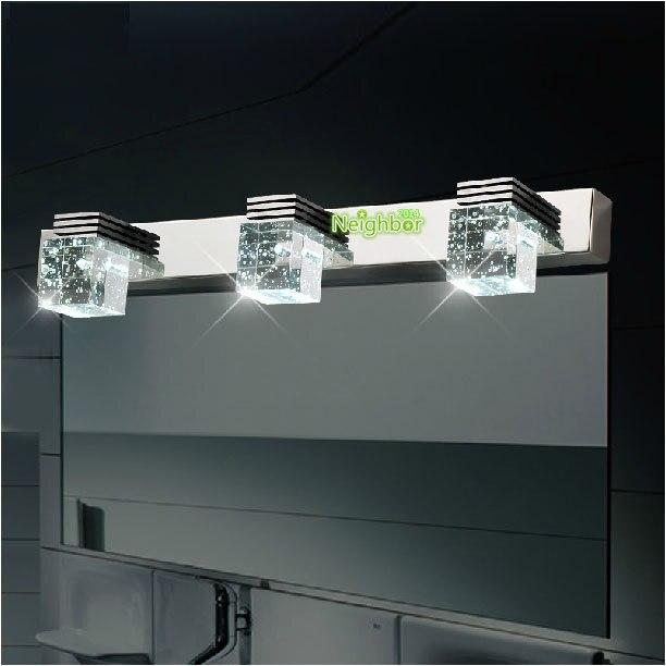 Nouveau Moderne Led Cristal Lumiere Salle De Bain Miroir Lampe
