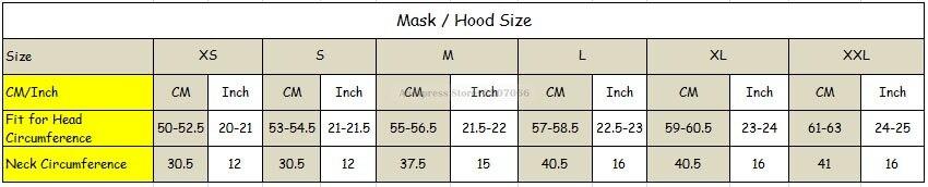 mask size