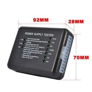 Image 5 - Kebidu מחשב ATX SATA HDD Power Supply Tester LED אינדיקציה 20 24pin PSU כלי אבחון בדיקות עבור האנודה קתודה