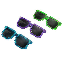 Novelty Pixel Mosaic Glasses Sunglasses Party Cosplay Photo Prop Toy Unisex(China)