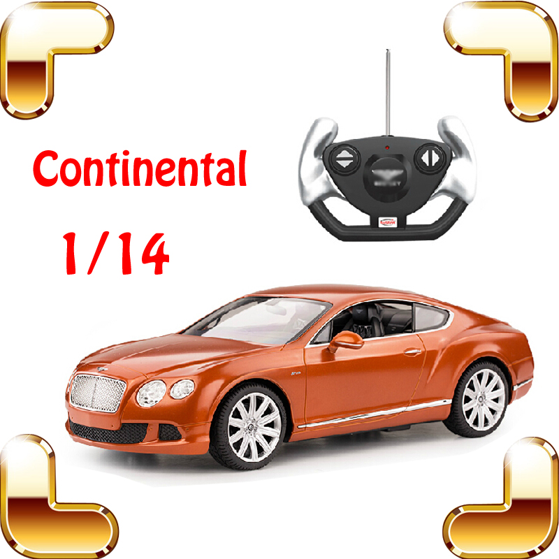 New Year Gift 1/14 Continental RC Remote Control Toy Car Model Scale Vehicle Speed Racing Drift Collection Sedan Game Present