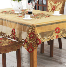 Embroidered tablecloth chair cover, table flag, household coffee cloth, thickening cloth