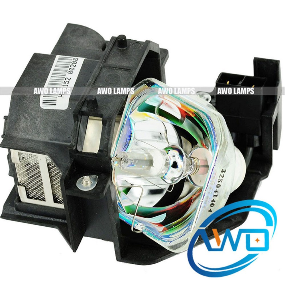 AWO Quality ELPLP36 V13H010L36 Replacement Projector Lamp with Housing for EPSON PowerLite S4 EMP-S4 EMP-S42 Projectors цена и фото