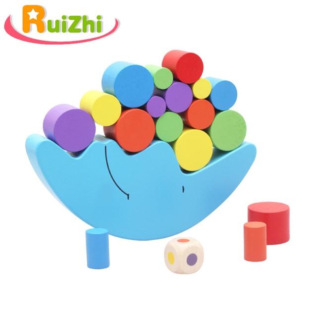 Ruizhi ילדי ירח איזון מסגרת צבעוני עץ מונטסורי הוראת איידס תינוק חינוכיים אבני בניין ילדי צעצועי RZ1078