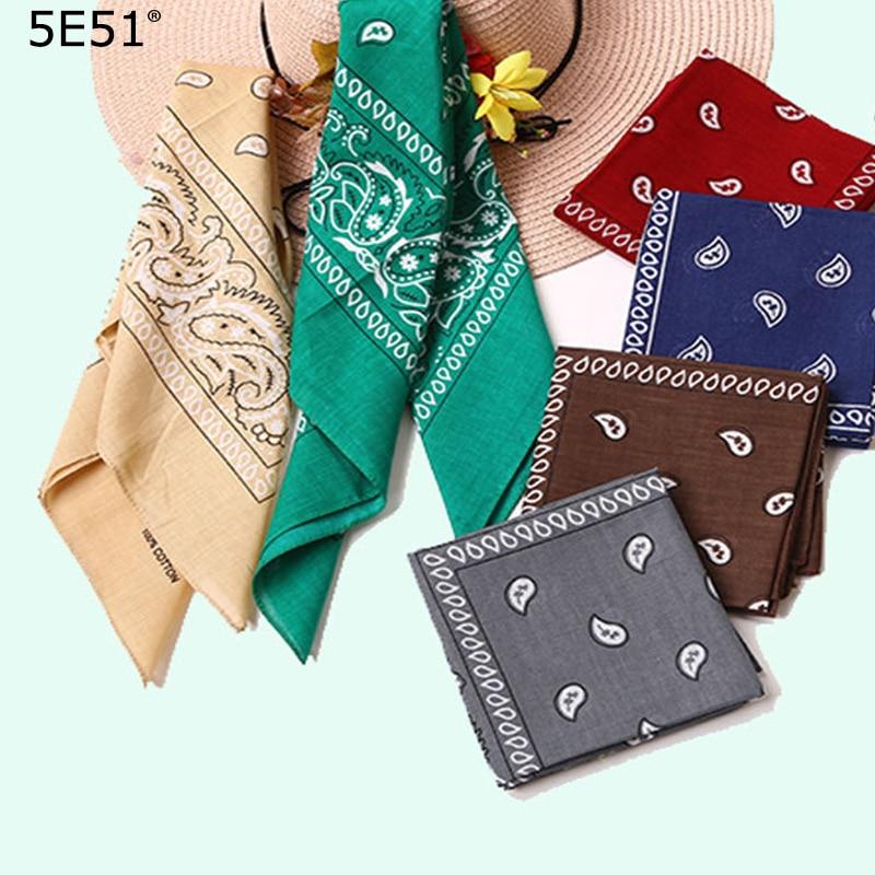 Women Men Sport Kerchief Headband Cotton 100%/ Printed 55cm/Many Uses