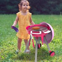 Simulation Toy Set Lighting Sound BBQ Variety BBQ Cart Children Play House Toys 23 Pieces BBQ Toy Set For Children Play