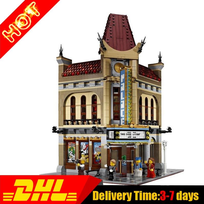ФОТО 2017 New Modular Moc LEPIN 15006 Street Houses Palace Cinema Building Block Set Bricks Kits Set Toys Compatible 10232