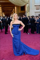 Glamorous Strapless Royal Blue Taffeta Celebrity Evening Dresses Reese Witherspoon The 2013 Oscars 85th Academy Awards