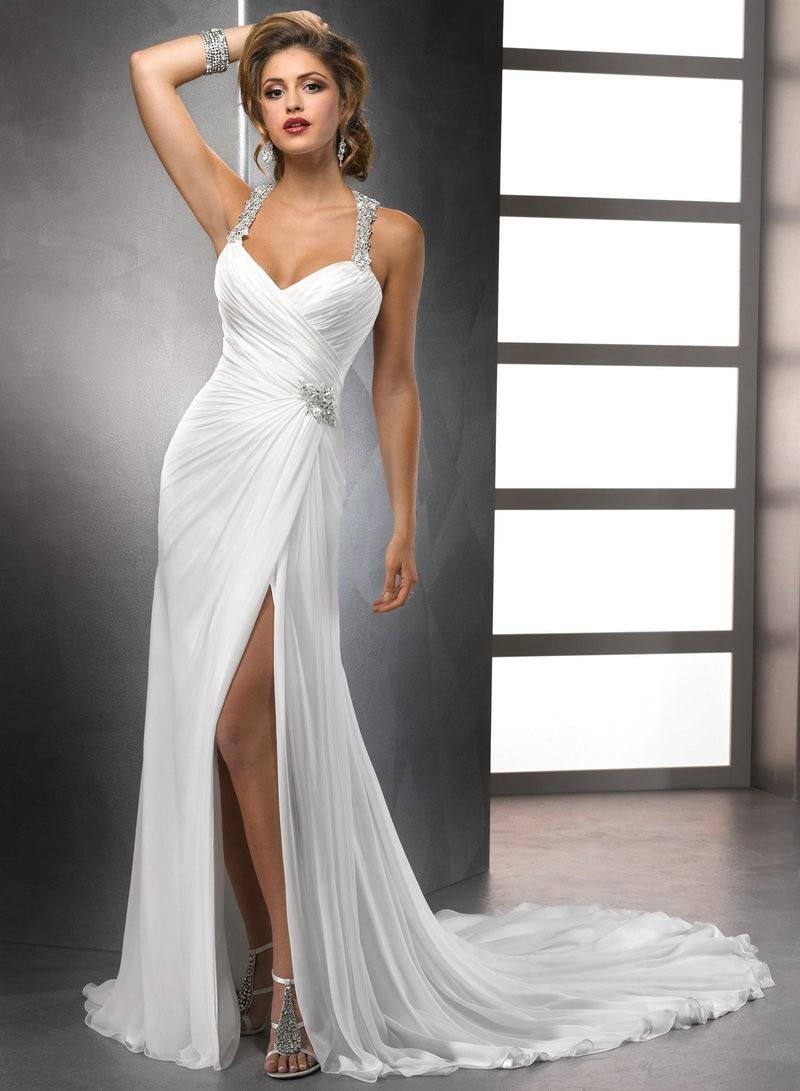 best simple elegant wedding dresses beach wedding dresses casual Image of Simple Elegant Wedding Dresses For The Beach