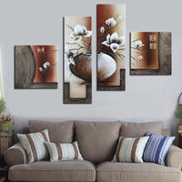 Islamic African Art Beautiful Flower In Glass Oil Painting Handmade 100 Art Picture Hanging On The