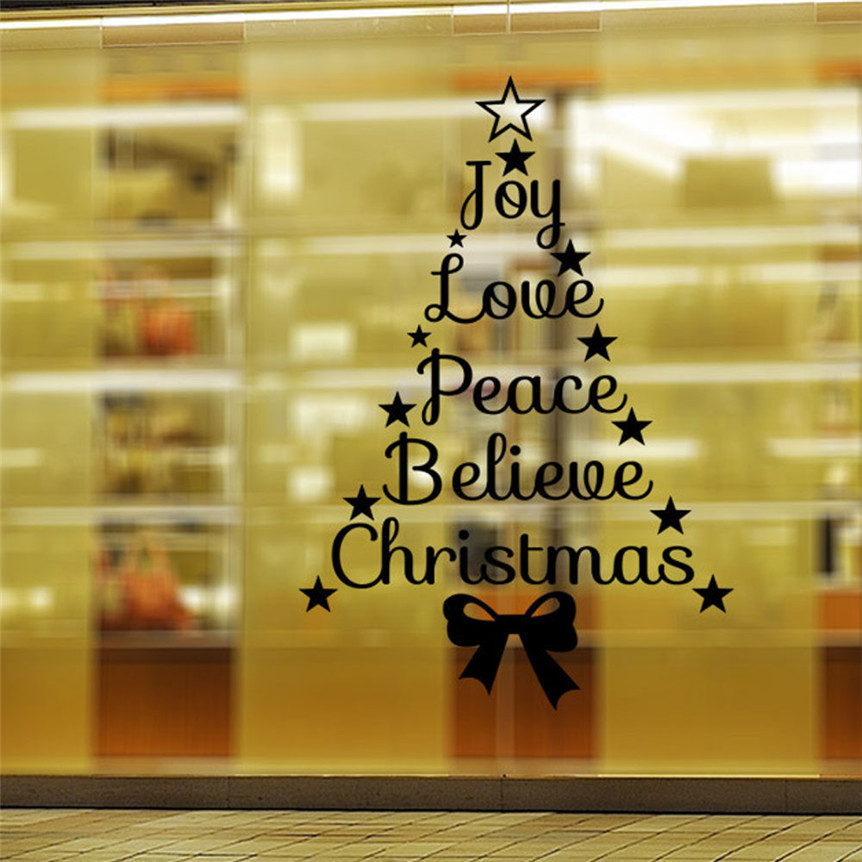 Home Wider Christmas Wall Stickers Mural Decal Quotes Art Home ...