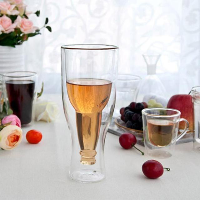 Creative Double-Walled Eco-Friendly Transparent Beer Glass