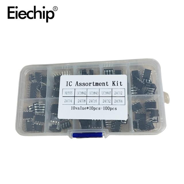 100 cái/lốc Trong sử dụng thông thường NHÚNG IC Bộ NE555 UC3842 UC3843 UC3845 24C02 24C04 24C08 24C16 24C32 24C64 NHÚNG mỗi 10 chiếc
