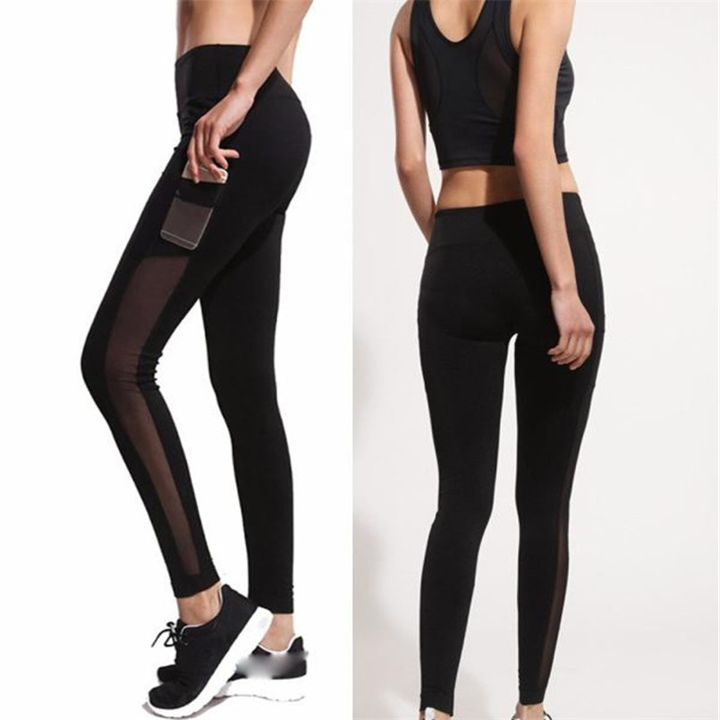 2018 Hot Sale Women's Fashion Comfy Solid Workout Leggings Fitness Sports Gym Running Athletic Pants Sport Trousers