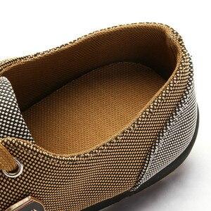 Image 4 - Mężczyźni buty moda płócienne buty dla mężczyzn obuwie letnie oddychające żółte Comfortbale espadryle trampki płaskie buty męskie duże rozmiary