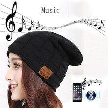2016 New Fashion Beanie Hat Cap Wireless Bluetooth Earphone Smart Headset Speaker Mic Winter Outdoor Sport Stereo Music Hat