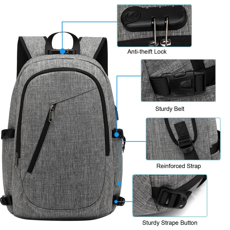 847f01127ff Mochila Escolar USB Charging Earphone Walkman Laptop 15.6inch Backpacks  Women Men for College Students Schoolbag Business Travel