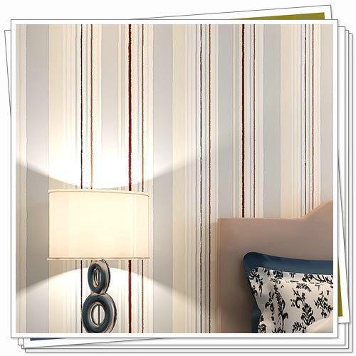 3d papel pintado paredes de las rayas verticales de tela no tejida fondo de pantalla chica
