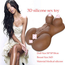 2016 New Masturbator Black Torso Vagina Sex Doll Pussy Realistic sex toys for men,real silicone sex dolls