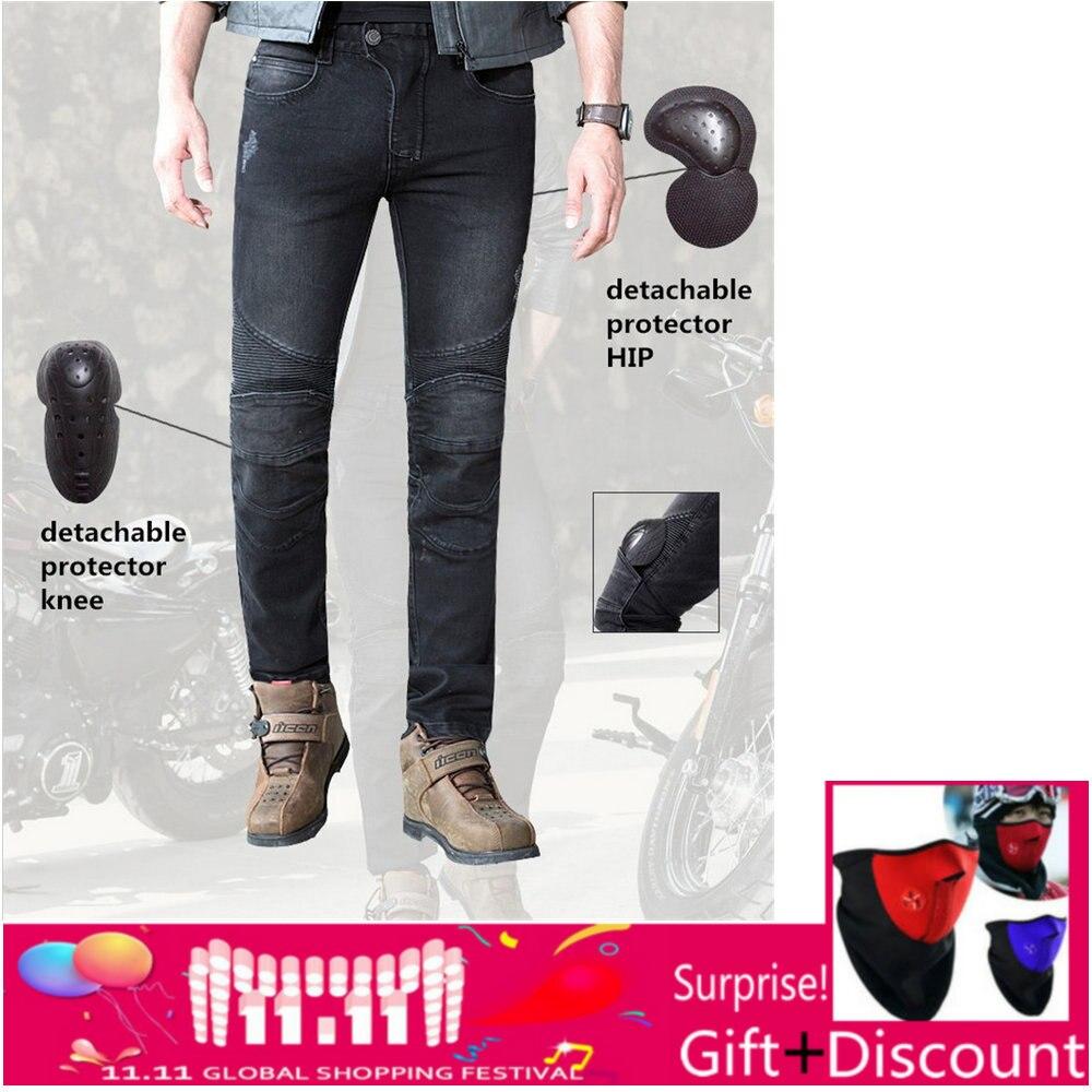 2018 Новый Uglybros перину джинсы черные Для Мужчин's moto rcycle джинсы защиты moto Штаны съемный протектор racing Штаны