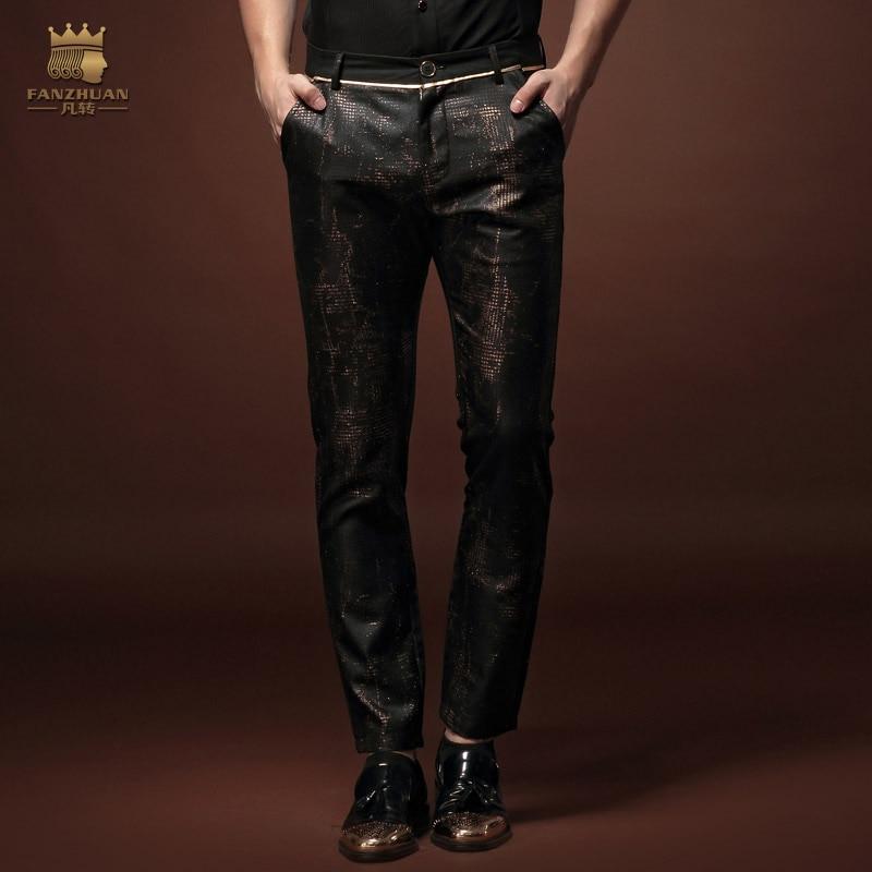 Fanzhuan nowa moda męska na co dzień Slim 2015 dziewiątego obcisłe spodnie 15822 oryginalny osobowości na sprzedaż w Obcisłe spodnie od Odzież męska na  Grupa 1