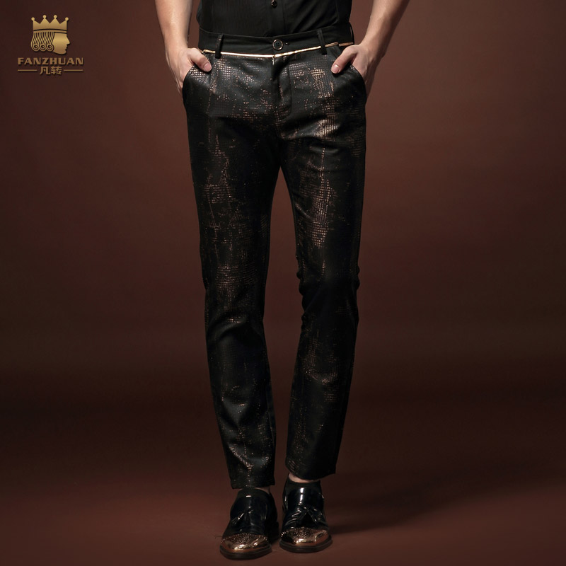 Fanzhuan New Male Fashion Man's Casual Slim 2015 Ninth Slim Pants 15822 Original Personality On Sale