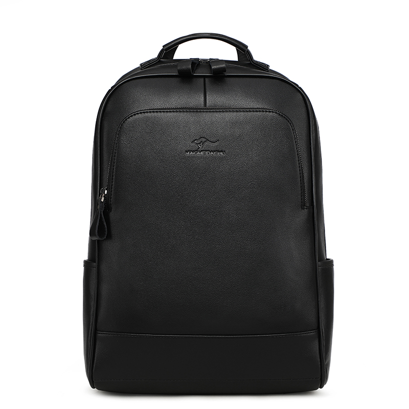 New Brand Cow Genuine Leather Men Backpacks Fashion Real Natural Leather Student Backpack Boy Luxury Lager Computer Laptop Bag