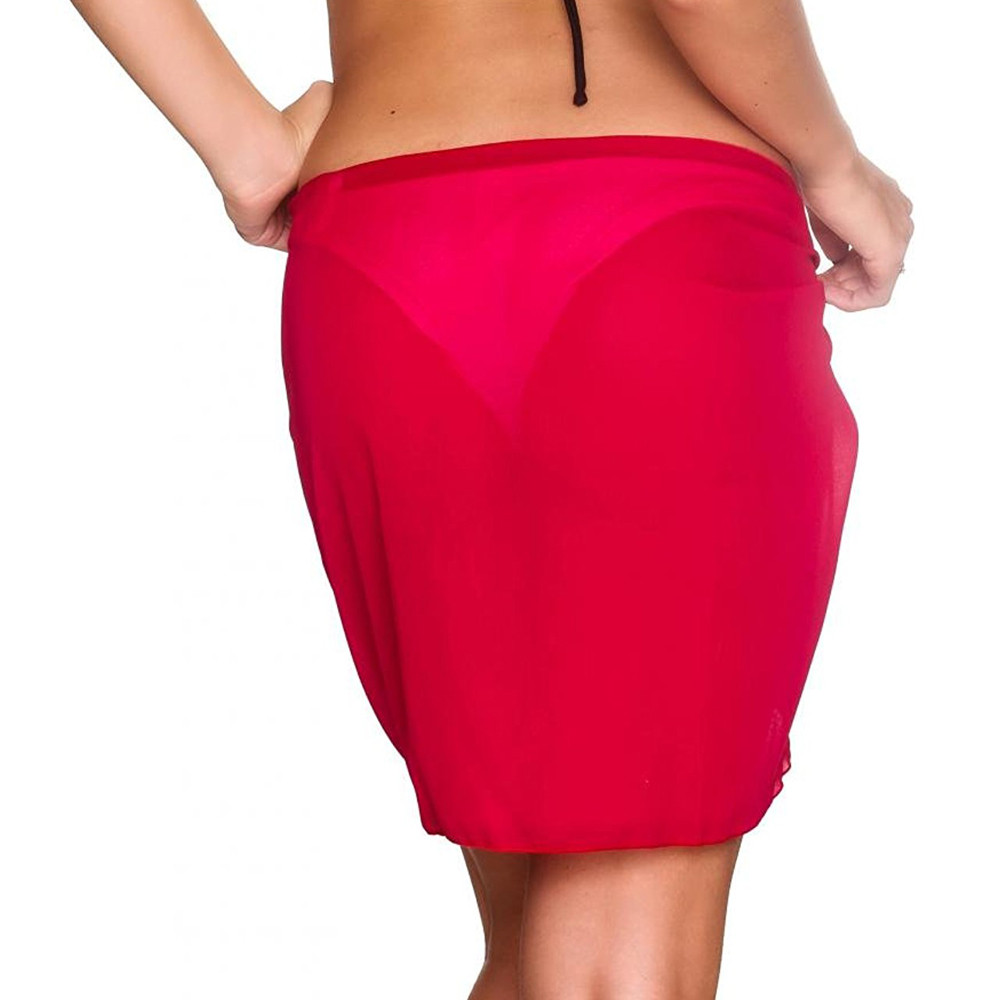 0929b63ded187 Summer Chiffon Skirt Ladies Sexy Wrap Skirts Wrapped Chest Coverup ...
