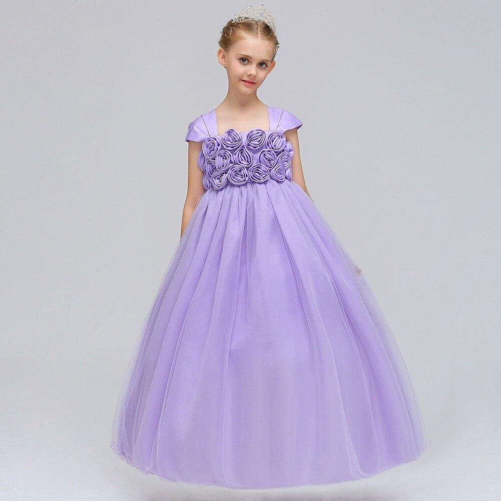 Flower     Girl     Dresses   Holy Communion   Dress   Red Liac Tulle Vestidos Pageant   Dresses   For Little   Girls   Ball Gown