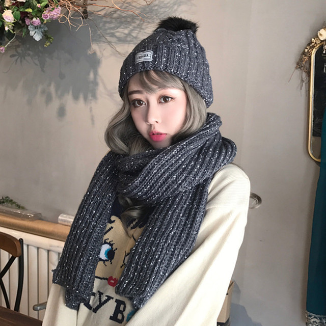 Chapéu do inverno maré Coréia do sexo feminino de todos os jogo de malha  quente chapéu ac5854e7608