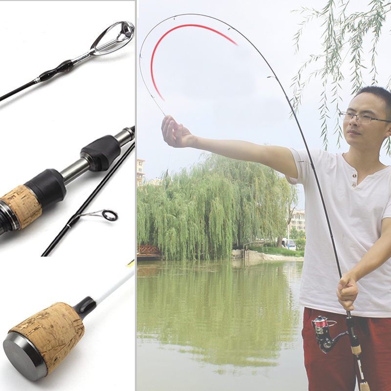 NEW 1.68M 1.8M carbon lure fishing rod 1-6g lure weight ultralight spinning rods 3-7LB line weight spinning rod Fishing Tackle цена