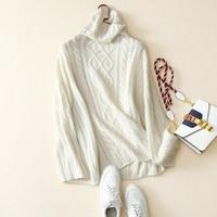100% кашемировый свитер Для женщин Водолазка Drop shoulder одежда с длинным рукавом 4 цвета свободные основные пуловеры трикотаж 2018 Новая мода